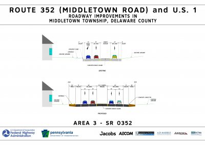 This image, area 3 typical section, shows the typical traffic pattern for area 3.
